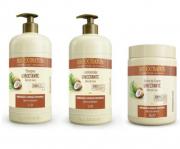 Bio Extratus Umectante Óleo de Coco (Shampoo+Condicionador+Banho de Creme 1L)