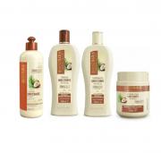 Bio Extratus Umectante Óleo de Coco (Shampoo+Condicionador+Banho de Creme+Finalizador 500g)