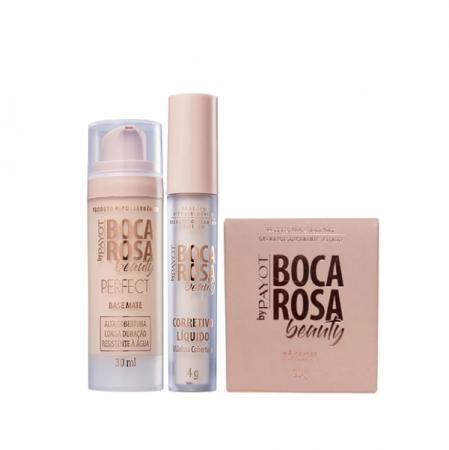Boca Rosa Beauty By Payot Kit pele Perfeita (Base 1+Corretivo 1+Pó Solto 1)