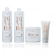 BRAÉ Divine - Shampoo 1000ml+Condicionador 1000ml+Máscara 500g+ Leave-in 200g