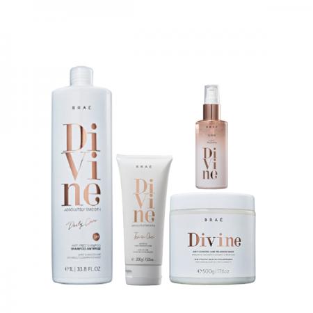 Brae Divine Shampoo 1L+Mascara 500g+Leave-in 200g+Serum Plume 60ml
