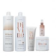 Brae Divine Shampoo 1L+Mascara 500g+Leave-in 200g+Serum Plume 60ml+Shampoo Matizador 1L