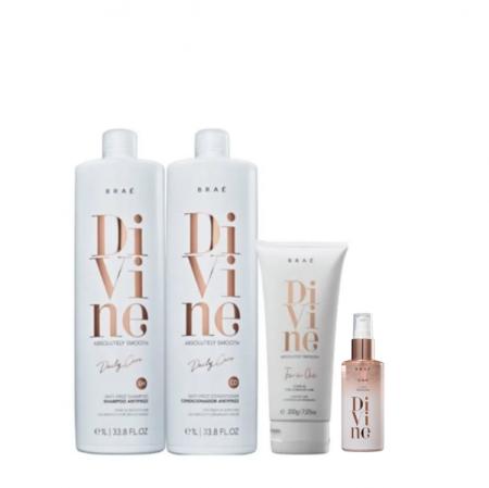 Brae Divine Shampoo+Condicionador 1L+Leave-in 200g+Serum 60ml