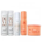 Brae Divine Shampoo+Condicionador 250ml+Bond Angel Leave-in 200ml+Wella Ntri-Enrich Shampoo 250ml+Mascara 500ml