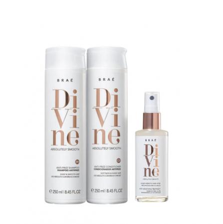 Brae Divine Shampoo+Condicionador 250ml+Queratina Liquida 60ml