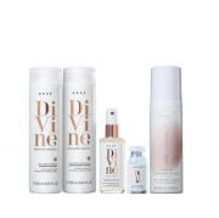 Brae Divine Shampoo+Condicionador 250ml+Queratina Liquida 60ml+Ampola 13ml+Leave-in Revival 200ml