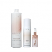 Braé Revival Shampoo 1L+Bond Algel Leave-in 200ml+Divine Serum Plume 60ml