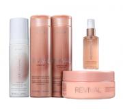 Brae Revival Shampoo+Condicionador 250ml+Mascara+Leave-in 200ml+ShineOil 60ml