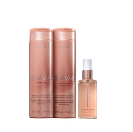 BRAE Revival Shampoo+Condicionador 250ml+Shine Oil 60ml