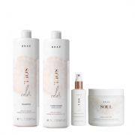 BRAÉ Soul Color - Shampoo+Condicionador 1L+Prime Spray 100ml+Mascara 500g