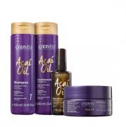 Cadiveu Açai Oil Shampoo+Condicionador 250ml+Mascara 200ml+Oleo Capilar 60ml