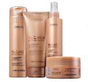 Cadiveu Blonde Reconstructor Shampoo 250ml+Mascara Reconstrução+Acidificante+Leave-in 200ml