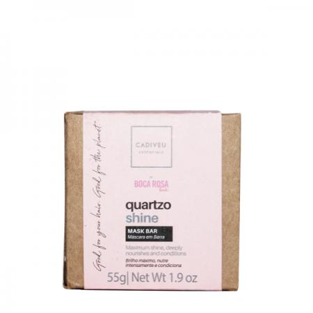Cadiveu Essentials Quartzo Shine By Boca Rosa Hair - Máscara de Tratamento em Barra 55g
