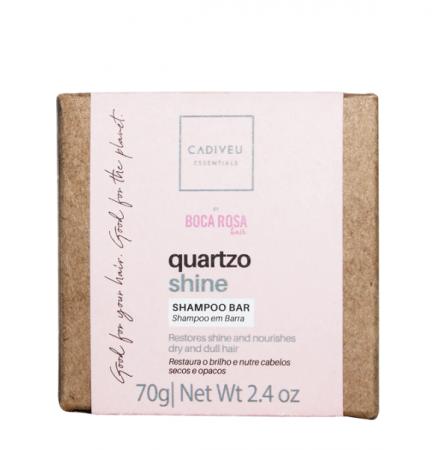 Cadiveu Essentials Quartzo Shine By Boca Rosa Hair - Shampoo em Barra 70g