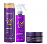 Cadiveu Professional Açaí Oil Shampoo 250ml+Ressuscitador 215ml+Mascara 200ml