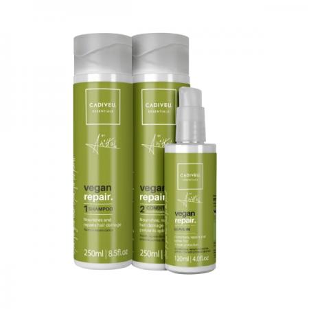 Cadiveu Professional Essentials Vegan Repair by Anitta Shampoo+Condicionador+Leave-in