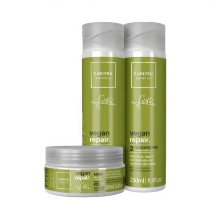 Cadiveu Professional Essentials Vegan Repair by Anitta Shampoo+Condicionador+Mascara