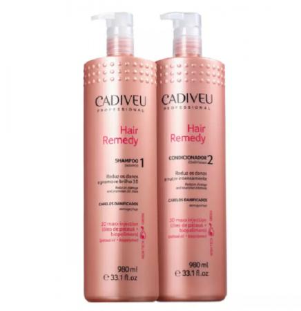 Cadiveu Professional Hair Remedy Shampoo+Condicionador  980ml