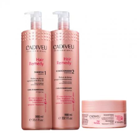 Cadiveu Professional Hair Remedy Shampoo+Condicionador 980ml+Mascara 200ml