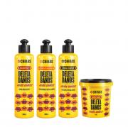 Chikas Deleta Danos - Shampoo+Condicionador+Finalizador 300ml+Mascara 450g