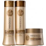 Kit Haskell Mandioca - Shampoo e Condicionador + Máscara