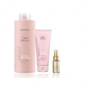 Wella Professionals Blonde Recharge - Shampoo 1000ml+Condicionador 200ml+Oil Reflections 30ml
