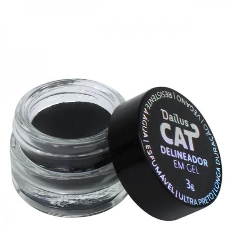 Dailus CAT Preto - Delineador em Gel 3g