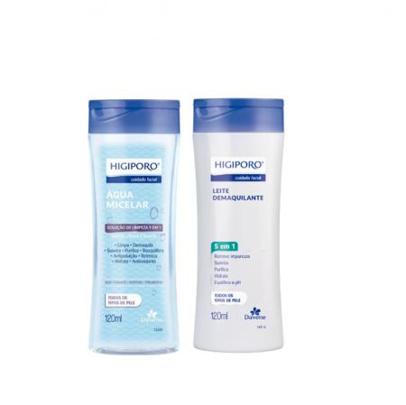Davene Agua Micelar+Leite Demaquilante Todos os Tipos de Pele Higiporo