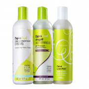 Deva Curl Shampoo Low-Poo+Condicionador One Condition+Leave-In Angéll 355ml