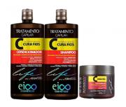 Eico Cura FIos Trio (Shampoo+Cond 1L+Mascara 500g)