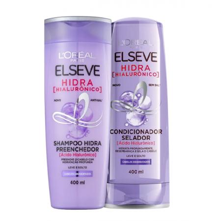 Elseve Hidra Hialurônico Preenchedor Shampoo+Condicionador 400ml