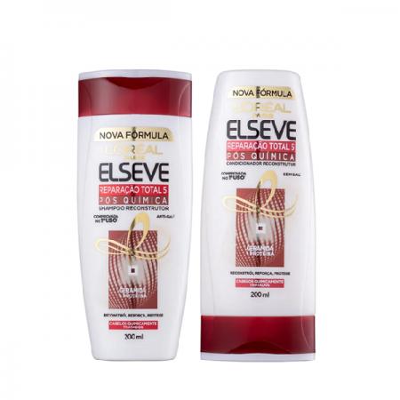 Elseve Reparação Total 5 Pós Química - Shampoo+Condicionador 200ml