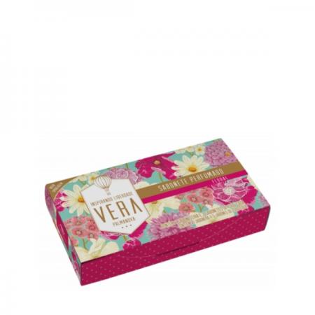 Estojo Perfumado Floral Vera com 3  Sabonete - 390g