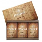 Estojo Senador Country com 3 Sabonetes - 390g