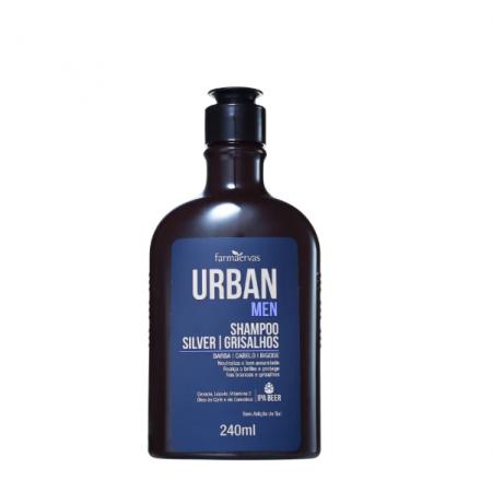 Farmaervas Urban Men Silver Grisalhos - Shampoo Desamarelador 240ml