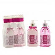 Flora Vie Lady Rose Kit BA25 Espuma de Banho+Emulsão Hidratante 380ml