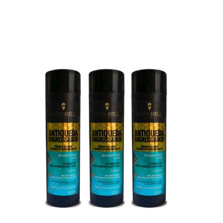Hidrabell Antiqueda Engrossador Shampoo - 500ml 3 Unidades
