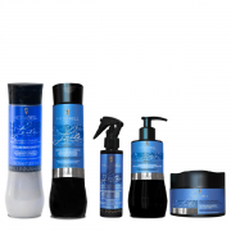 Hidrabell Leite de Arroz - Shampoo 350ml+Condicionador 330g+Spray 120ml+Leave-in 200g+Mascara 250g