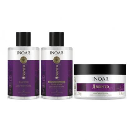 Inoar Absinto Shampoo+Condicionador 300ml+Mascara 250g