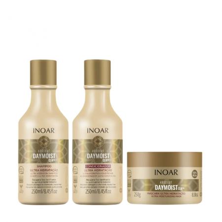 Inoar Absolut DayMoist CLR- Shampoo+Condicionador+Mascara 250ml