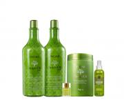 Inoar Argan Oil System-Shampoo+Cond 1L+Mascara 1K+Oil 7ml+Fluido Liso Magico 200ml