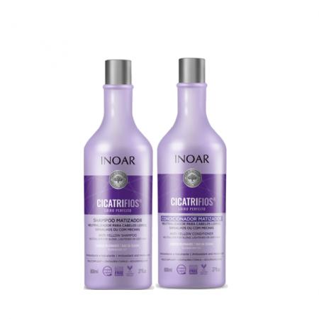 Inoar Cicatrifios Loiro Perfeito Matizador Shampoo+Condicionador 800ml