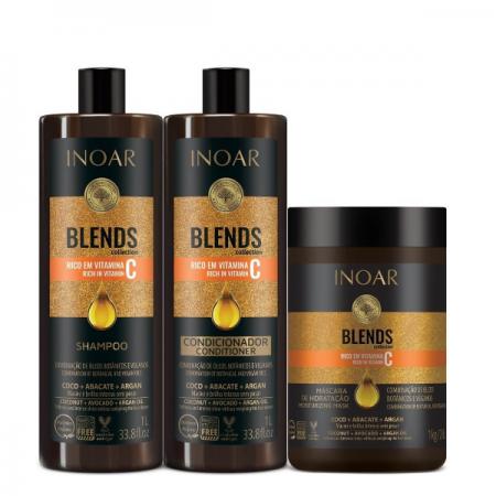 Inoar Coleção Blends Shampoo+Condicionador 1L+Mascara 1Kg