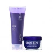 K Pro Special Silver - Shampoo Desamarelador 240ml+Mascara Blond 165g