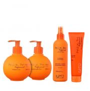 K Pro Petit Teen Shampoo+Condicionador 240ml+Leave-in 200ml+Pomada Modeladora 90g