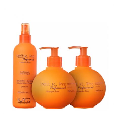 K Pro Petit Teen - Shampoo sem Sal+Condicionador 240ml+Leave-in 200ml
