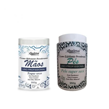 Kelma Creme Hidratante Mãos+ Esfoliante Para Pés - 950g