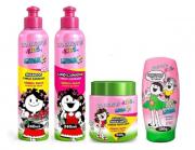 Kids Cabelos Cacheados Kit 4 Produtos Bio Extratus