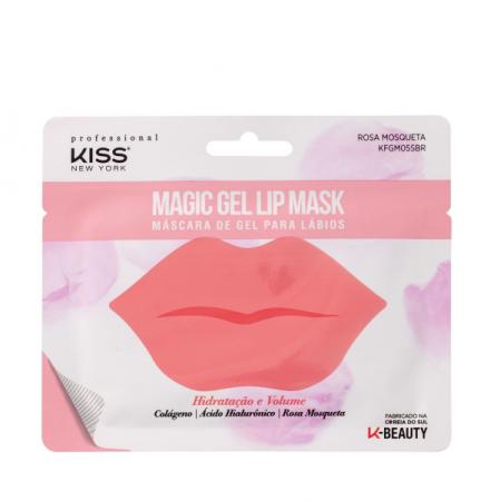 Kiss New York Máscara de Gel Para Lábios Hidratação e Volume