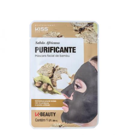 Kiss New York Sabão Africano Purificante - Máscara de Limpeza Facial 20ml